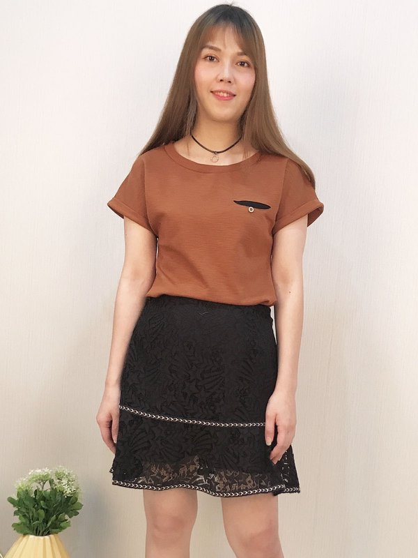 LACE MINI SKIRT (BLACK)