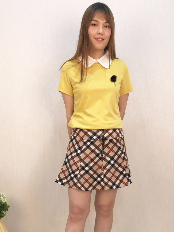 COLLAR SIMPLE TOP  (YELLOW)
