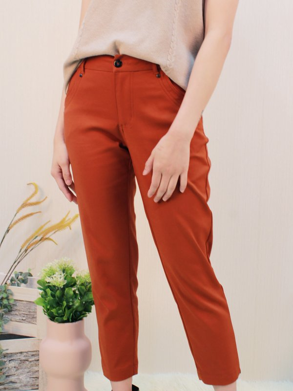 P29876RBR LISS CROP PANTS (RUSTIC BROWN)