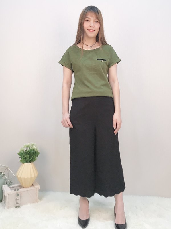 TS46764FGE SIMPLE SIDE DESIGN TOP  (FOREST GREEN)