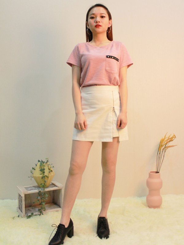 POCKEY SHIRT  (CHAMPAGNE PINK)