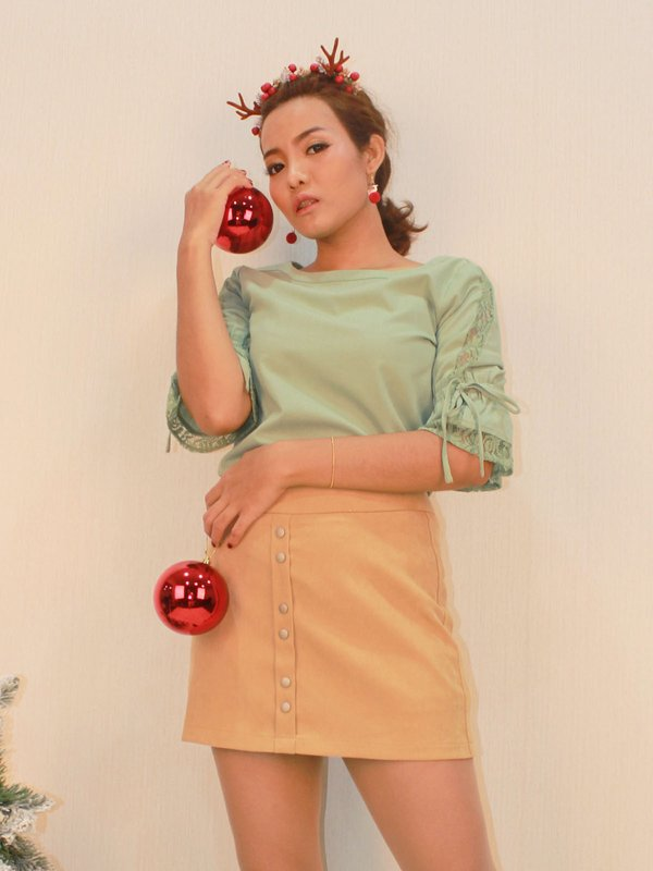 BUTTON DOWN SKIRT (COCO)