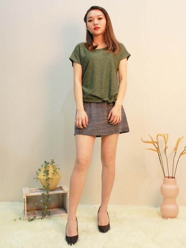 CHARLOTTE BASIC TOP  (FOREST GREEN)