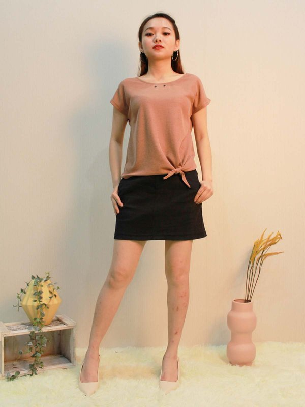 NOAH BASIC TOP  (LIGHT BROWN)