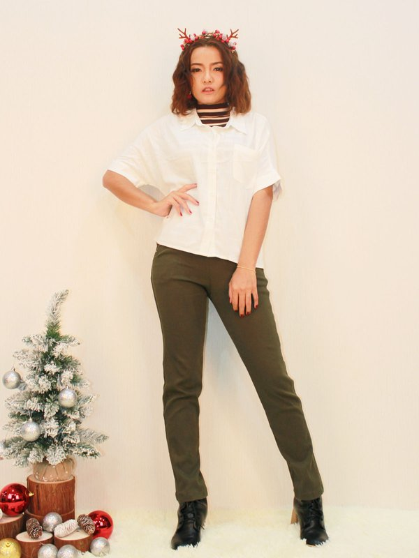 SOFT COLLAR BLOUSE (CREAM)