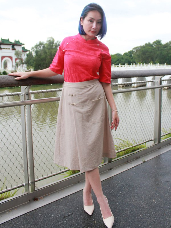 PARISH PEARL TOP(RED)
