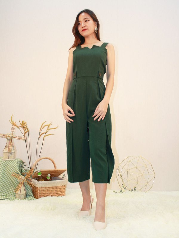 CLASH JUMPSUIT (DARK GREEN)