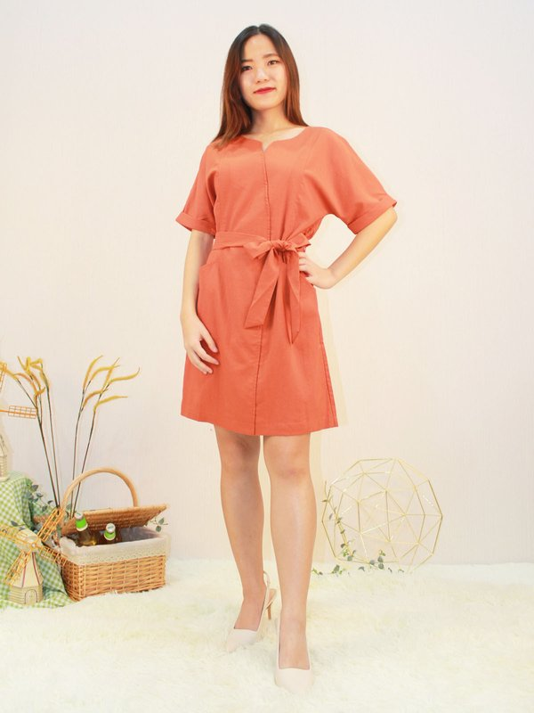 CASTIEL DRESS (RUSTIC RED)