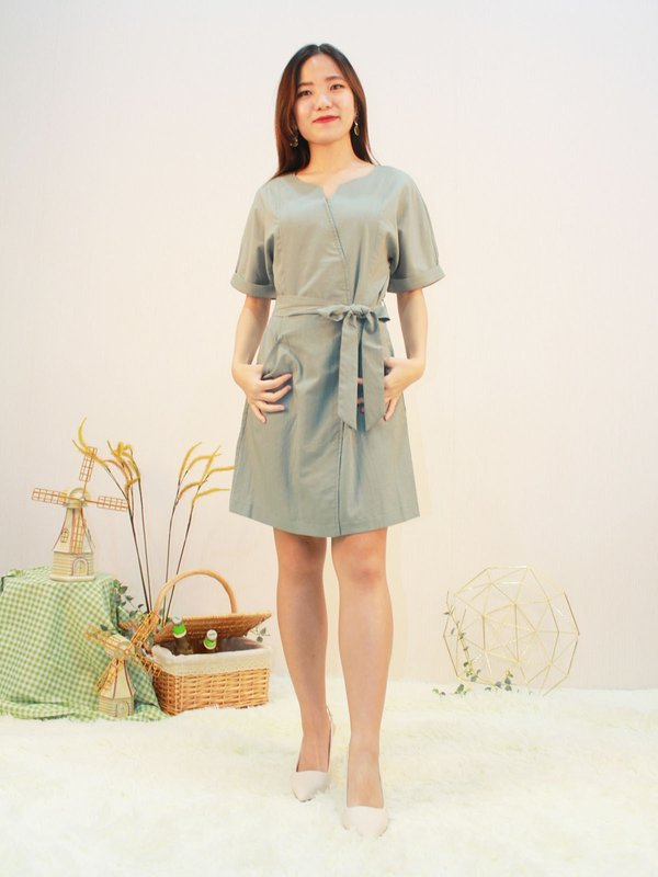 CASTIEL DRESS (PALE GREEN)