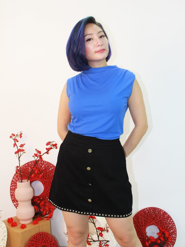 COLETTE BASIC TOP (COBALT BLUE)