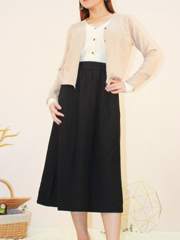MERTIGNER MIDI SKIRT(BLACK)