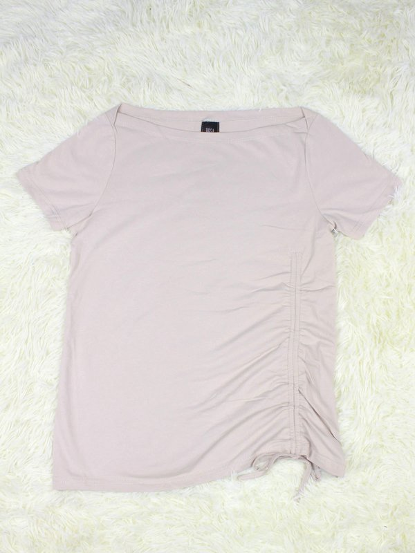 BASIC TIE UP SHIRT (BEIGE)