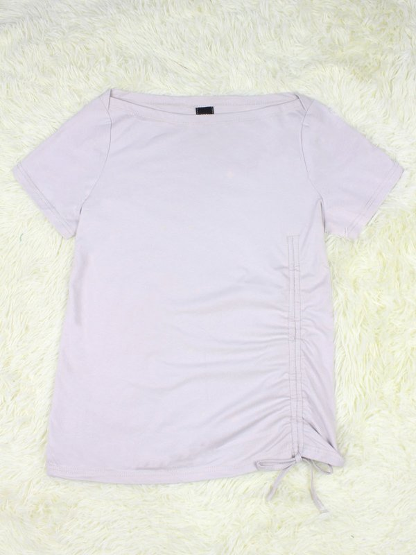BASIC TIE UP SHIRT (IVORY)