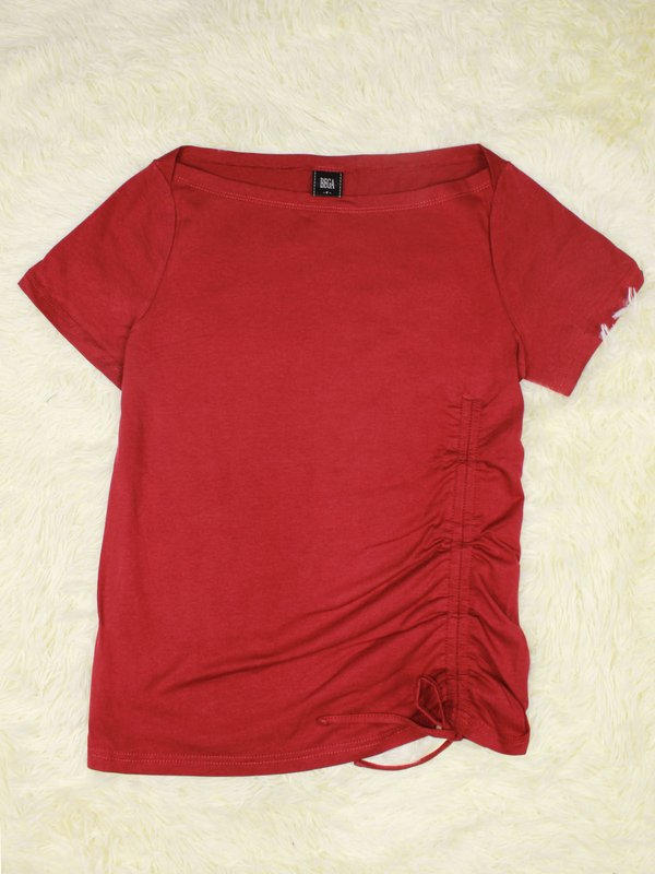 BASIC TIE UP SHIRT (RED)