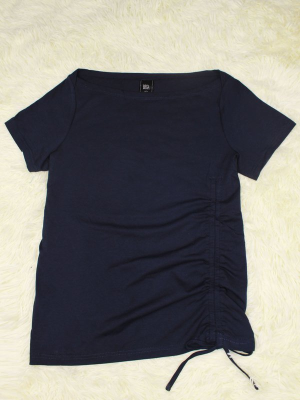 BASIC TIE UP SHIRT (DARK BLUE)