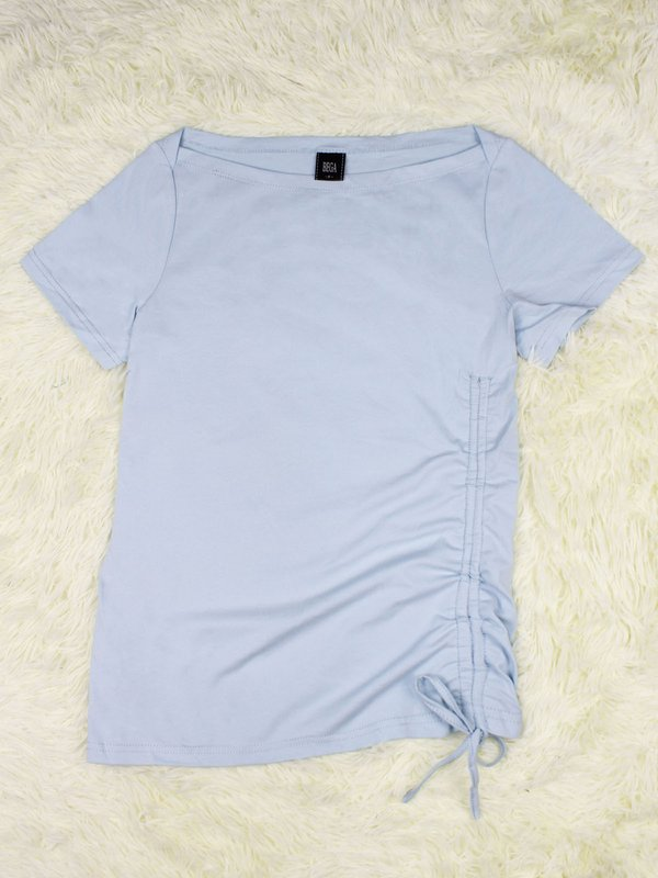 BASIC TIE UP SHIRT (LIGHT BLUE)