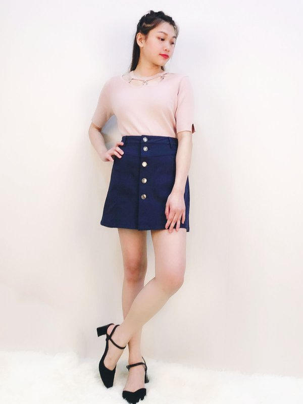 DANETTE JEAN SKIRT (DARK BLUE)