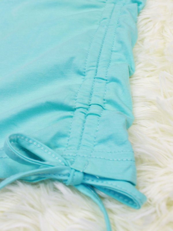 BASIC TIE UP SHIRT (TIFFANY BLUE)