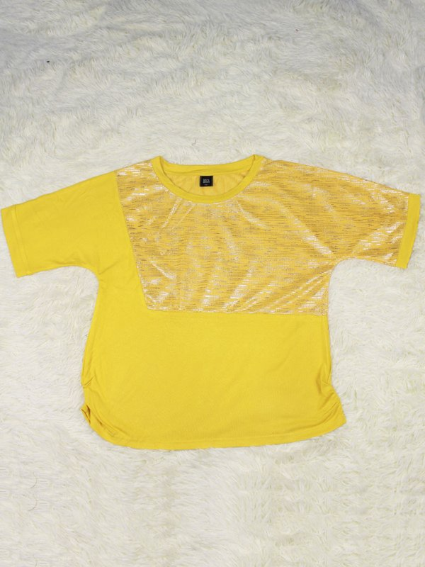 FRONT SHINNY SHIRT (YELLOW)