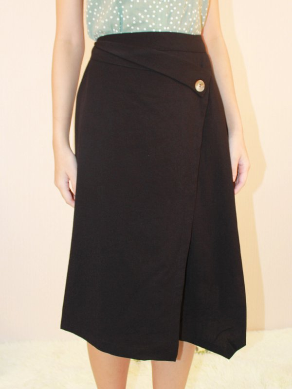 ALESSA MIDI SKIRT (BLACK)