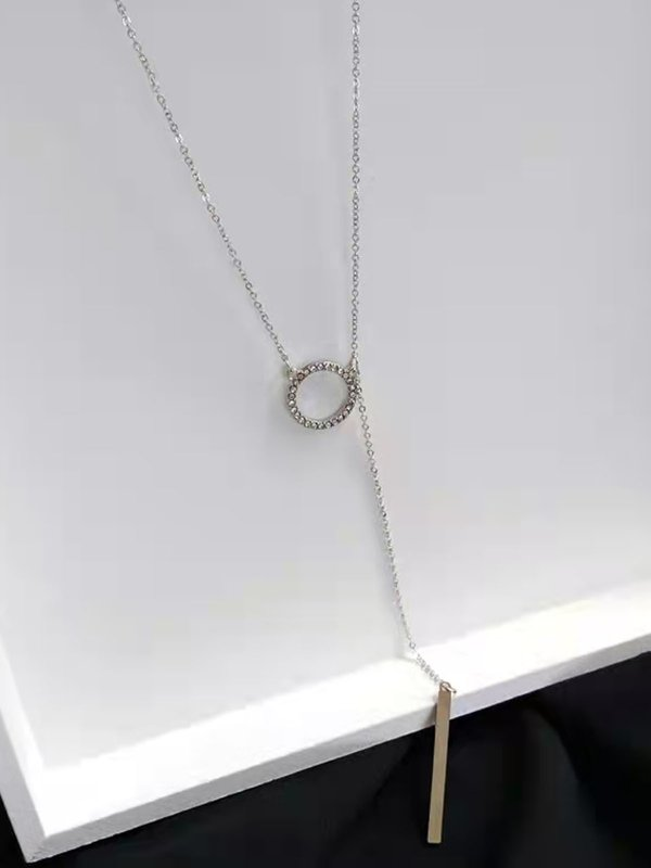 RING BAR NECKLACE (SILVER)